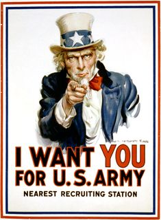 the most classic poster ever printed... this is what we got when we decided to anthropomorphize the country... Uncle Sam