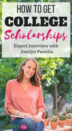 How to Get Scholarships for College Expert Interview How to get college scholarships Jocelyn Paonita gives her expert tips that she used herself to get over 125000 in scholarships college scholarships personalfinance money onlinecollegemom Saving For College, Online College, College Hacks, College Guide, College Checklist, Financial Aid For College, Education College, College Savings, How To Get Scholarships