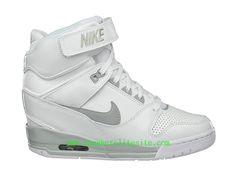 672b660382 Nike Air Revolution Sky Hi -Chaussures Pas Cher Pour Femme/Fille Blanc  599410-