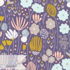 Bio-Stoff Cloud9 Morning Song Rich Meadow Blumen von LottiKlein auf DaWanda.com
