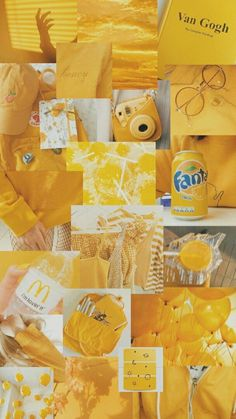 Yellow aesthetic collage made by me -*Kaila* Yellow Aesthetic Pastel, Rainbow Aesthetic, Aesthetic Pastel Wallpaper, Aesthetic Colors, Aesthetic Collage, Aesthetic Backgrounds, Aesthetic Wallpapers, Pastel Yellow, Summer Aesthetic