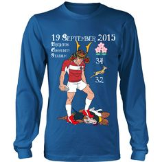 Rugby World Cup 2015 - Japan's Triumph - Long Sleeve – Designer Tees Rugby World Cup, Tee Design, Graphic Sweatshirt, Japan, Sweatshirts, Tees, Long Sleeve, Sweaters, Mens Tops