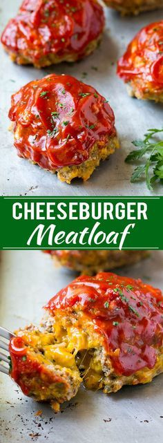 Cheeseburger Meatloaf Recipe | Individual Meatloaf | Mini Meatloaf | Bacon Cheeseburger Meatloaf Recipe