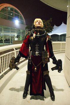 Warhammer 40K Adepta Sororita (Sister of Battle) cosplay. Fantastic!