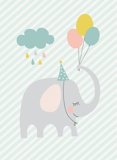 Poster A4 | Mimirella Kleine feest olifant
