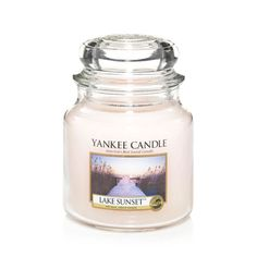 Yankee Candle LAKE SUNSET - I may be very very very angry with Yankee Candle for discontinuing Beachwood, but this one makes me feel just a little tiny bit forgiving. :)
