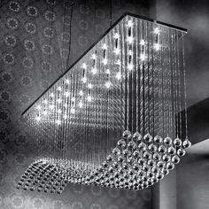 Pendentes Arco 01 e 02, fabricados pelo mundo das luminárias. Também produzidos como plafons.