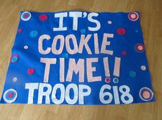 Girl Scouts/Boy Scouts  Troop Cookie Booth Sales  banners- personalized