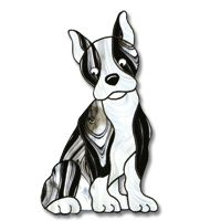 Free Pattern,  Boston Terrier