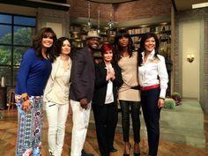 Marie Osmond, Sara Gilbert, Taye Diggs, Sharon Osbourne, Aisha Tyler & Julie Chen at The Talk