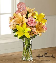 The FTD® Find Happiness Bouquet by Hallmark -VASE INCLUDED