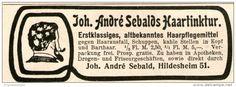 Original-Werbung/ Anzeige 1908 - SEBALDS HAARTINKTUR / HILDESHEIM - ca. 90 x 25 mm