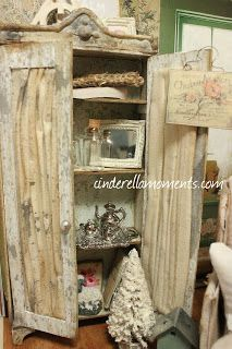 Cinderella Moments: Mrs. Gruyere and Vintage Tattered Style Dollhouse Furniture