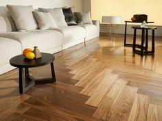 Wood floor herringbone pattern
