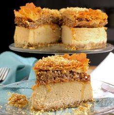 Raspberry Linzer Mousse Cake - Gretchen's Vegan Bakery Baklava Cheesecake, Blueberry Cheesecake, Cheesecake Recipes, Vegan Cheesecake, Vegan Desserts, Fun Desserts, Christmas Desserts, Dessert Recipes, Candied Orange Slices