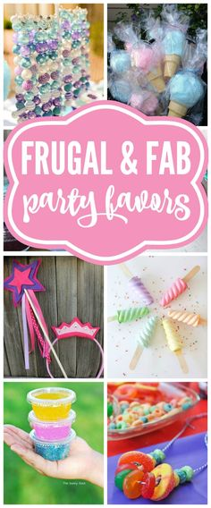 These are fantastic Birthday Favor Ideas for any girls birthday party. Perfect budget friendly tips to make any party fantastic.