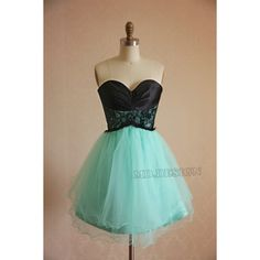 Turquoise Blue Bridesmaid Dress Mini Prom Dress Party Dress Strapless... ($90) ❤ liked on Polyvore