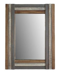 Another great find on #zulily! Wooden Rectangular Wall Mirror by Cheung's Rattan Imports #zulilyfinds