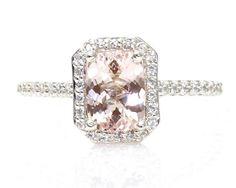Morganite Engagement Ring | Morganite Engagement Ring & Wedding Band Diamond ... | Happily Ever A ...