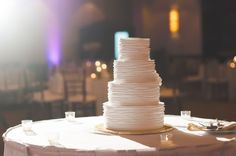 Wide-Angle Shot of Your Wedding Cake, Dramatically Lit