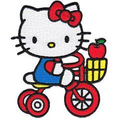 Hello kitty riding her bike Hello Kitty Pictures, Kitty Images, Hello Kitty Imagenes, Anime Rules, Hello Kitty Birthday, Hello Kitty Wallpaper, Sanrio Hello Kitty, Little Twin Stars, Cute Characters