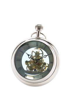 KARE Design Paperweight Medium im Stil einer alten Taschenuhr. Trendiges Design für den Schreibtisch mit Glaselementen und dekorativer Uhrenmechanik. #KARE #KAREDesign