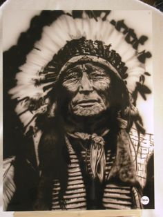 Airbrushed indian portrait I did a few years ago.