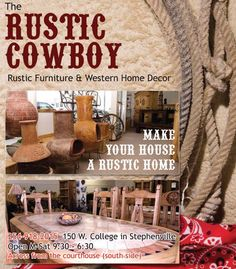 Rustic Furniture & Western Home Decor - a place for some ideas?