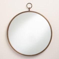 Brass Metal Loop Mirror | World Market - less expensive than anthro version