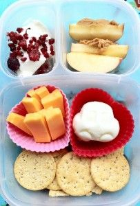 Cheese and crackers for lunch!