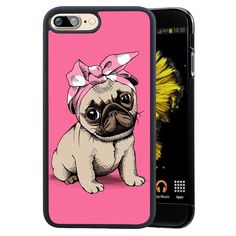 Pug Dog Protective Phone Case for iPhone. Black coloured edges made of a very durable hard plastic providing excellent protection for your iPhone. Designed to provide essential protection while also allowing access to all ports and buttons of your iPhone. Casetify Iphone 7 Plus, Iphone 8 Plus, Iphone 8 Cases, Iphone 4, Phone Case, Protective Cases, Pugs, Dogs And Puppies, Cover