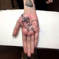 WEBSTA @ walkerx - Tattooed @lucy_molloy palm today @boldasbrasstattoo Thanks…