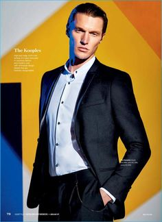 Shaun DeWet dons a modern suit from French fashion brand, The Kooples.
