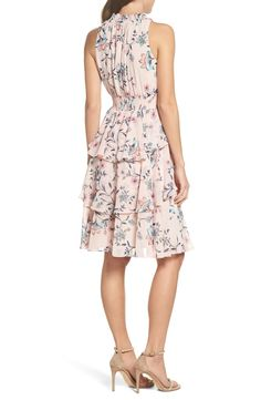 Petite Dresses, Floral Dresses, Smock Dress, Chiffon Dress, Smocking, Ruffles, Nordstrom, Fashion Outfits, Wedding Dresses