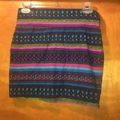 Multicolored skirt Shirt multicolored skirt fun designwilling to bundle with other skirt for this price just let me know that you want both Rue 21 Skirts Mini