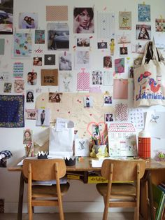 Creative inspiration wall from Dans un petit village Workspace Inspiration, Inspiration Wall, Interior Inspiration, Creative Inspiration, My New Room, My Room, Home Decoracion, Chaise Vintage, Interior And Exterior
