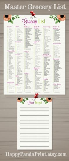 Printable Grocery List  Tough Times Toilet Paper And Toilet