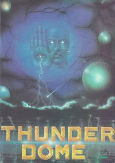 Classic Telepathy rave flyer for the Thunderdom event in December at the London Tasco Warehouse. Illustration by Pez.