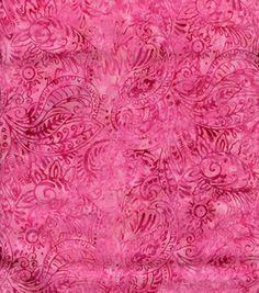 Legacy Studio Indonesian Batik- Paisley Pink: quilting fabric & kits: fabric: Shop | Joann.com