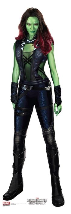 "Zoe Saldana as Gamora from""Gaurdians Of The Galaxy"""