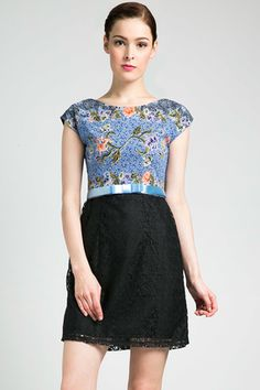 Batik lace dress