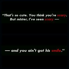 You think you're scary. But mister, I've seen scary - and you ain't got his smile. Creative Writing Prompts, Book Writing Tips, Dialogue Prompts, Story Prompts, Comics Sketch, Mood Quotes, Life Quotes, Writing Promts, Story Starters