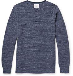 Saturdays Surf NYC Mitch Slub Stretch Cotton-Jersey Henley T-Shirt | MR PORTER