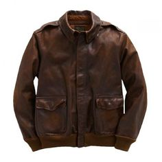 RRL Distressed Leather A-2 Jacket