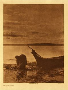 "Edward Curtis' ""The Clam Digger"" (pictured is Princess Angeline)"