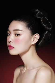 Zhang. China doll skin and straight eyebrows. The beauty of asian skin.