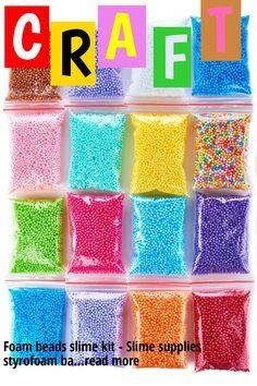 Foam beads slime kit - Slime supplies styrofoam balls - Foam balls Crafts Supplies - Floam beads for making Homemade slime - micro floam balls DIY slime supplies … (This is an affiliate link)