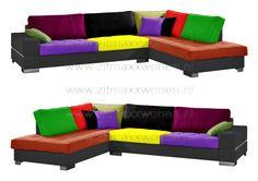 Loungebank 2 zits-chaise longue Color Mix Calypso  100 kleuren  zitmaxx.eu