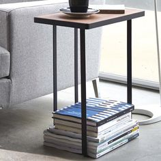 Found it at Wayfair - Tower Magazine Rack and Table