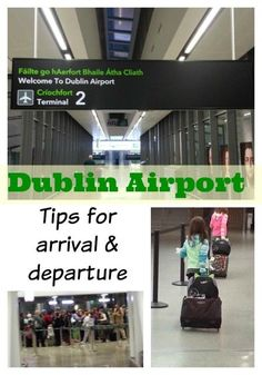 Dublin Airport tips for arrival and departure. Ireland's busiest airport will likely be your first and last stop, so use these Dublin airport tips to make sure you don't begin or end your Ireland vacation with stress! Travel Ireland Tips, Ireland Vacation, Scotland Travel, Travel Tips, Scotland Trip, Dublin Travel, Travel Destinations, Travel Hacks, Traveling To Ireland
